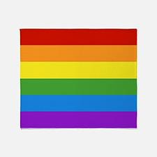 Cute Lesbian .gay pride Throw Blanket