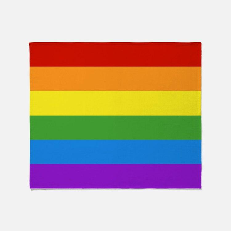Cute Gay pride Throw Blanket