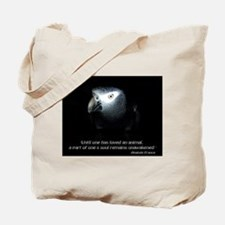 Timneh African Grey with Quote Tote Bag