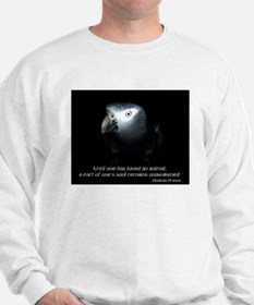 Timneh African Grey with Quote Sweatshirt