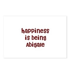 happiness is being Abigale Postcards (Package of 8