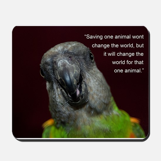 Senegal with Quote Mousepad