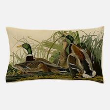 Audubon Mallard duck Bird Vintage Print Pillow Cas