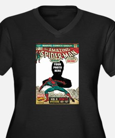 marvel comic Women's Plus Size V-Neck Dark T-Shirt