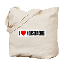 I Love Horseracing Tote Bag