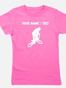 Custom BMX Biker Silhouette Girl's Tee