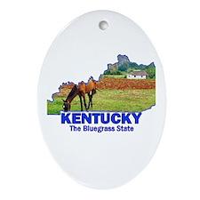 Kentucky . . . The Bluegrass Oval Ornament