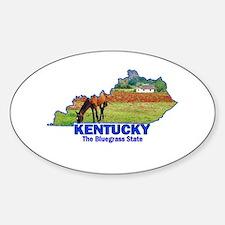 Kentucky . . . The Bluegrass Oval Stickers