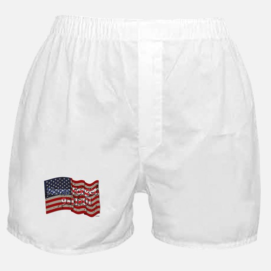 911 Never Forget American Flag Boxer Shorts