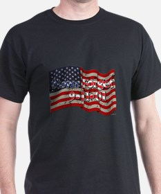 911 Never Forget American Flag T-Shirt