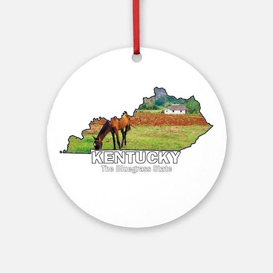 Kentucky . . . The Bluegrass Ornament (Round)