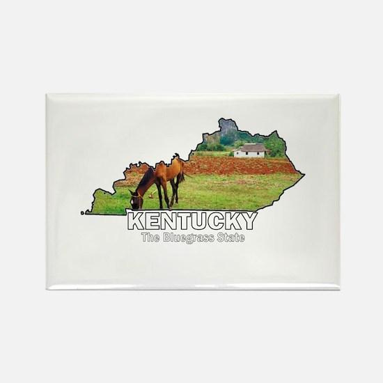 Kentucky . . . The Bluegrass Rectangle Magnet