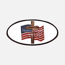 911 Never Forget American Flag And Cross Patch