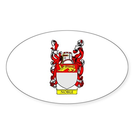 NOBLE Coat of Arms Oval Sticker