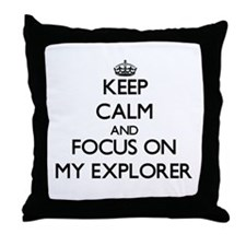 Funny Searcher Throw Pillow