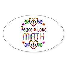 Peace Love Math Decal