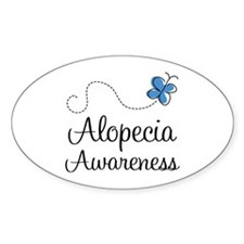 Alopecia Awareness blue butterfly Decal