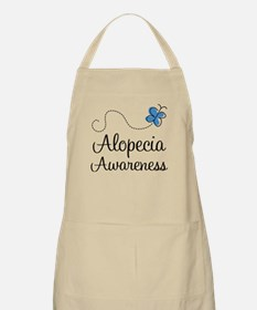 Alopecia Awareness blue butterfly Apron