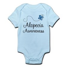 Alopecia Awareness blue butterfly Body Suit
