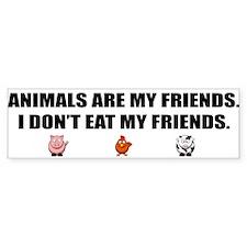 Animals Are My Friends - Trans Bumper Bumper Sticker