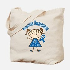 Alopecia Awareness stick figure Tote Bag