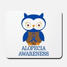 Alopecia Awareness Owl Mousepad