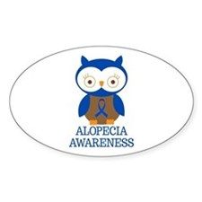 Alopecia Awareness Owl Decal