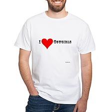 I Love (Heart) Cowgirls Shirt