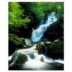Waterfall In Killarney National Park, Ireland Poster