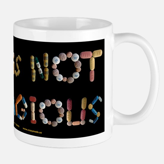 Ocd Is Not Contagious Black Mugs