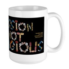 Depression Is NOT Contagious black Mugs