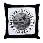 Thor Rune Shield Throw Pillow