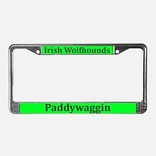 Irish Wolfhound Paddywaggin License Plate Frame
