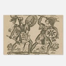 Medieval Knights Swords and Armor Postcards (Packa