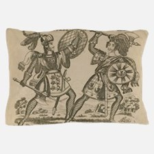Medieval Knights Swords and Armor Pillow Case