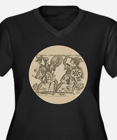 Medieval Knights Swords and Armor Plus Size T-Shir