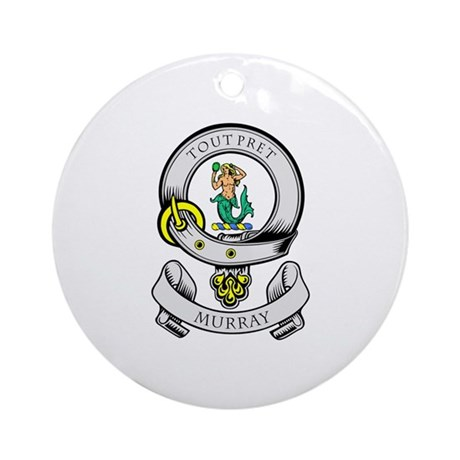 MURRAY Coat of Arms Ornament (Round)