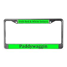 Irish Red & White Setters License Plate Frame
