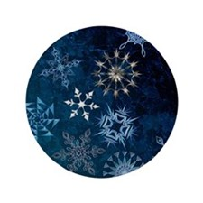 "Harvest Moons Snowflakes 3.5"" Button"