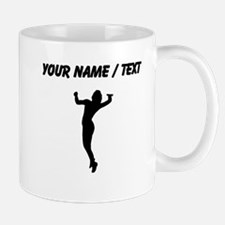 Custom Volleyball Serve Silhouette Mugs