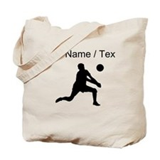 Custom Volleyball Set Silhouette Tote Bag