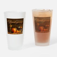 Unique Thanksgiving Drinking Glass
