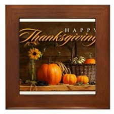 Unique Thanksgiving Framed Tile