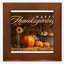 Cute Thanksgiving Framed Tile
