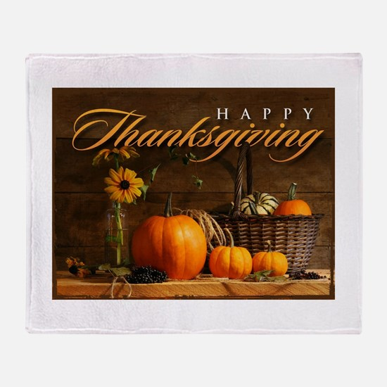 Funny Thanksgiving Throw Blanket