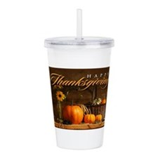 Unique Thanksgiving Acrylic Double-wall Tumbler