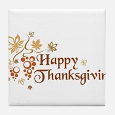 Unique Thanksgiving Tile Coaster
