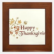 Funny Thanksgiving Framed Tile
