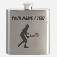 Custom Tennis Player Silhouette Flask