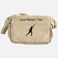 Custom Shot Put Silhouette Messenger Bag